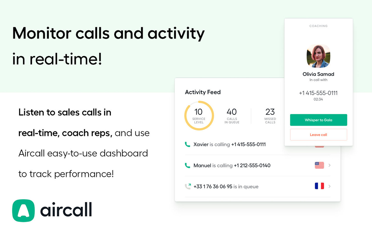 Aircall aircall app - pipedrive marketplace