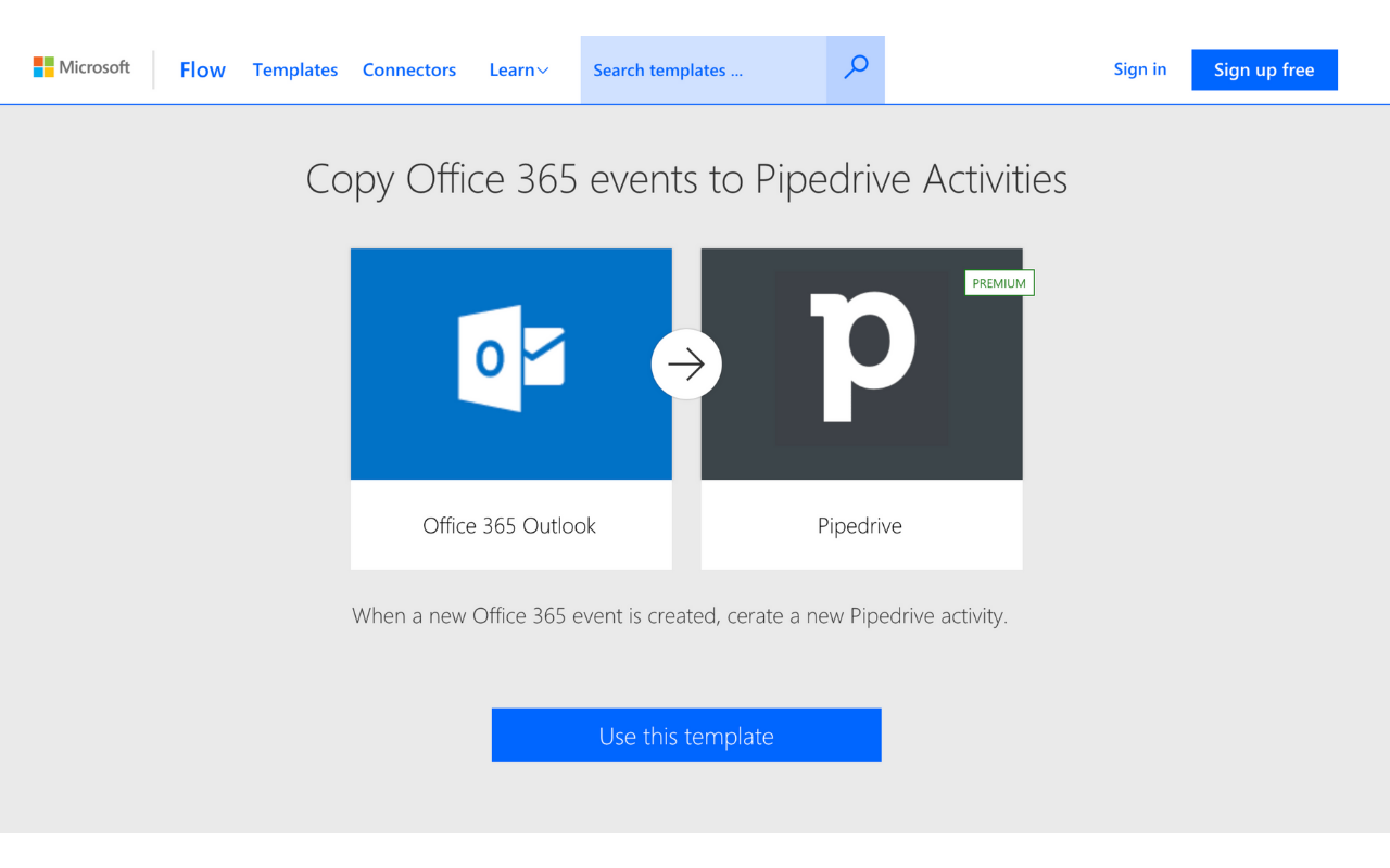 Microsoft Flow App - Pipedrive Marketplace